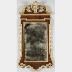 Mahogany Veneer and Gilt-gesso Looking Glass