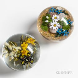 Two Paperweights by Clinton Smith and Cathy Richardson