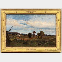 Francois DeBlois (Massachusetts/Quebec, 1829-1913)      New England Town