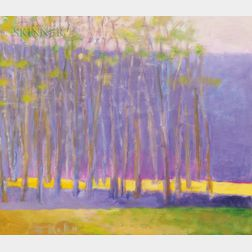 Wolf Kahn (German/American, b. 1927)      Purple Tree Screen