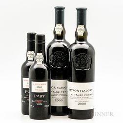 Mixed 2000 Port, 2 bottles 2 demi bottles