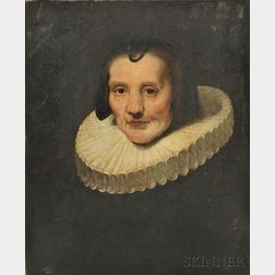 Dutch School, 17th Century Style      Portrait of a Lady in a White Ruff
