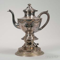 Sheffield Silver-plated Kettle-on-stand