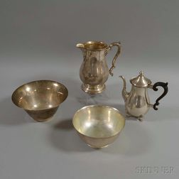 Four Pieces of Sterling Silver Hollowware