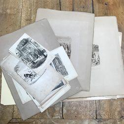 Large Group of Cruikshank Engravings.     Estimate $20-200