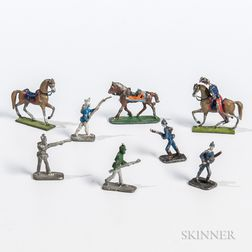 Group of Miniature Cold-painted Lead Soldiers