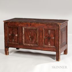 Early Joined and Paint-decorated Blanket Chest