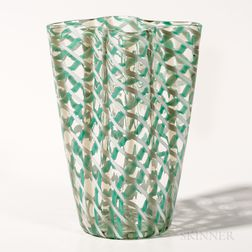 Flavio Bianconi (1915-1996) for Venini Scozzese (Scottish) Art Glass Vase