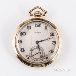 14kt Gold Zenith Open-face Watch