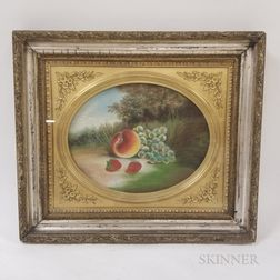 Framed Pastel Still Life with Fruit Attributed to John Bower