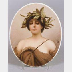 Handpainted Porcelain Portrait Plaque