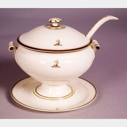 Wedgwood Queen's Ware Crested Soup Tureen, Cover and Stand
