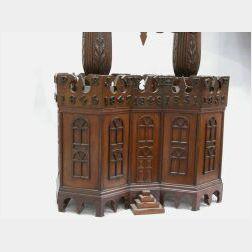 Victorian Carved Walnut Spire-top Building