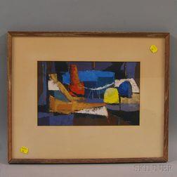 Philip Burnham Hicken (American, 1910-1985)      Interior Abstraction.