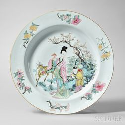 Export Famille Rose Porcelain Charger