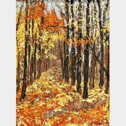American School, 20th Century       Autumn Landscape.