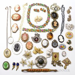 Large Group of Antique-style Costume Jewelry