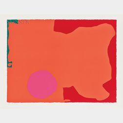 Patrick Heron (British, 1920-1999)      Magenta Disk, Red Edge