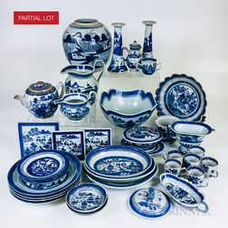 Approximately Seventy-nine Pieces of Canton Porcelain Tableware