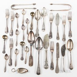 Group of Sterling Silver and Silver-plated Flatware