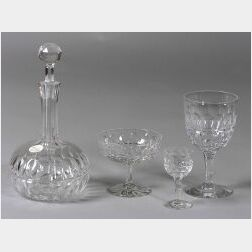 Group of Forty-Five Stuart Cut Glass Table Articles