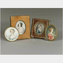 Four Miniature Portraits of Ladies