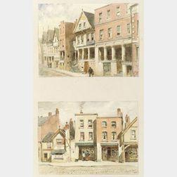 Walter Paris (Anglo/American, 1842-1906) Artists Sketchbook Including Views of Baltimore, Bruges, Capri, Dordrecht, Florence, Genoa, M