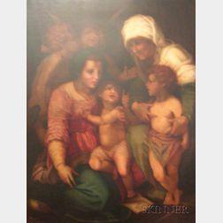 After Andrea del Sarto (Italian, 1486-1530) The Vierge, LEnfant Jesus, Sainte Elisabeth et le Petit Saint...