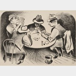 William Gropper (American, 1897-1977)      Lot of Two Genre Scenes:  Poker