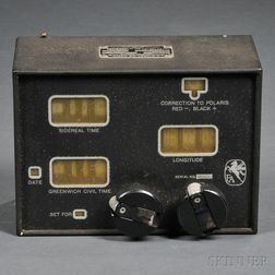 U.S. Army Air Corps Computer Time Conversion Instrument