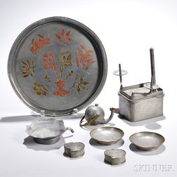 Eight Pewter Items