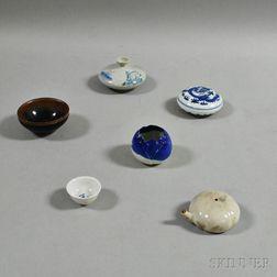 Six Asian Ceramic Items