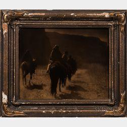 Edward Curtis (American, 1868-1952) Oratone Photograph, The Vanishing Race