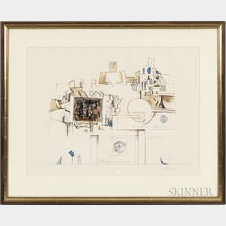 Saul Steinberg (American, 1914-1999)      Braque  , from the Portfolio Six Drawing Tables