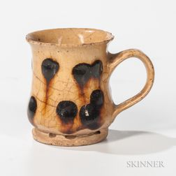 Small Slip-decorated Redware Mug