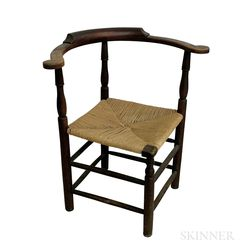 Queen Anne Stained Maple Roundabout Chair