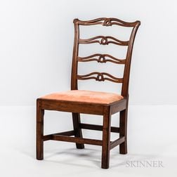 Chippendale Mahogany Ladder-back Side Chair