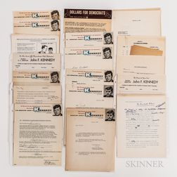 Collection of Documents and Correspondence Related to John F. Kennedy's 1958 Re-election Campaign.