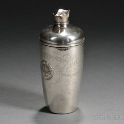 Whiting Sterling Silver Larchmont Yacht Club Trophy Cocktail Shaker