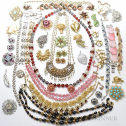 Large Group of Costume Jewelry