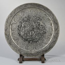 Engraved Copper Alloy Table Tray