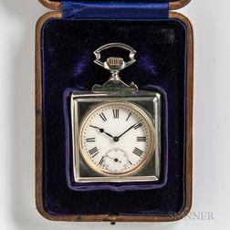 Dobson & Sons Silver Desk Clock