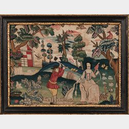 Needlework Allegorical Picture