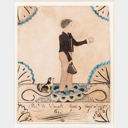 Joseph Davis (New Hampshire/Maine, 1811-1865)      Paul W. Cheswell, Aged 9 Years August 28th