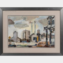 William Arthur Lewis (American, 1918-2020)      Chevy Plant