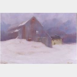 Gilbert Riswold (American, b. 1911)  The Snow Fall/A Winter View