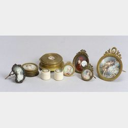 Nine Miniatures and Miniature Mounted Articles
