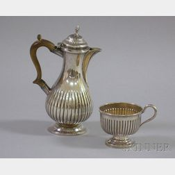George III Silver Chocolate Pot, London. 1808, Charles Goodwin, Maker