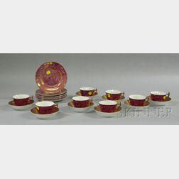 Twenty-four Pieces of Wedgwood Pink Lustre Tableware