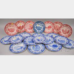 Twenty Wedgwood Vassar College Ceramic Plates